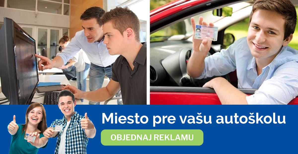 Objednaj reklamný priestor pre vašu autoškolu